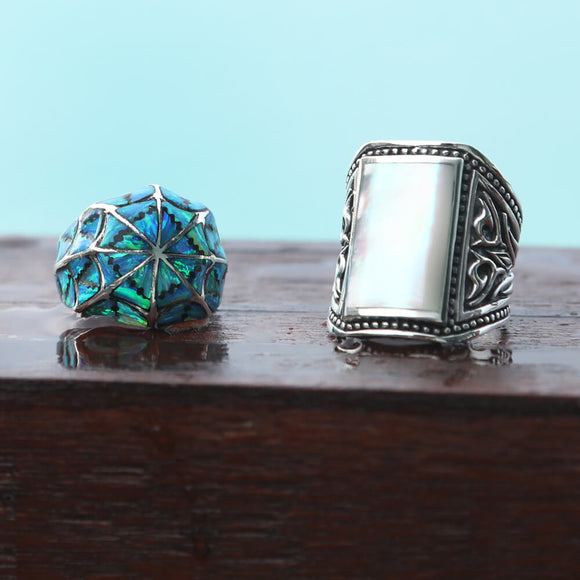 Silver rings for men