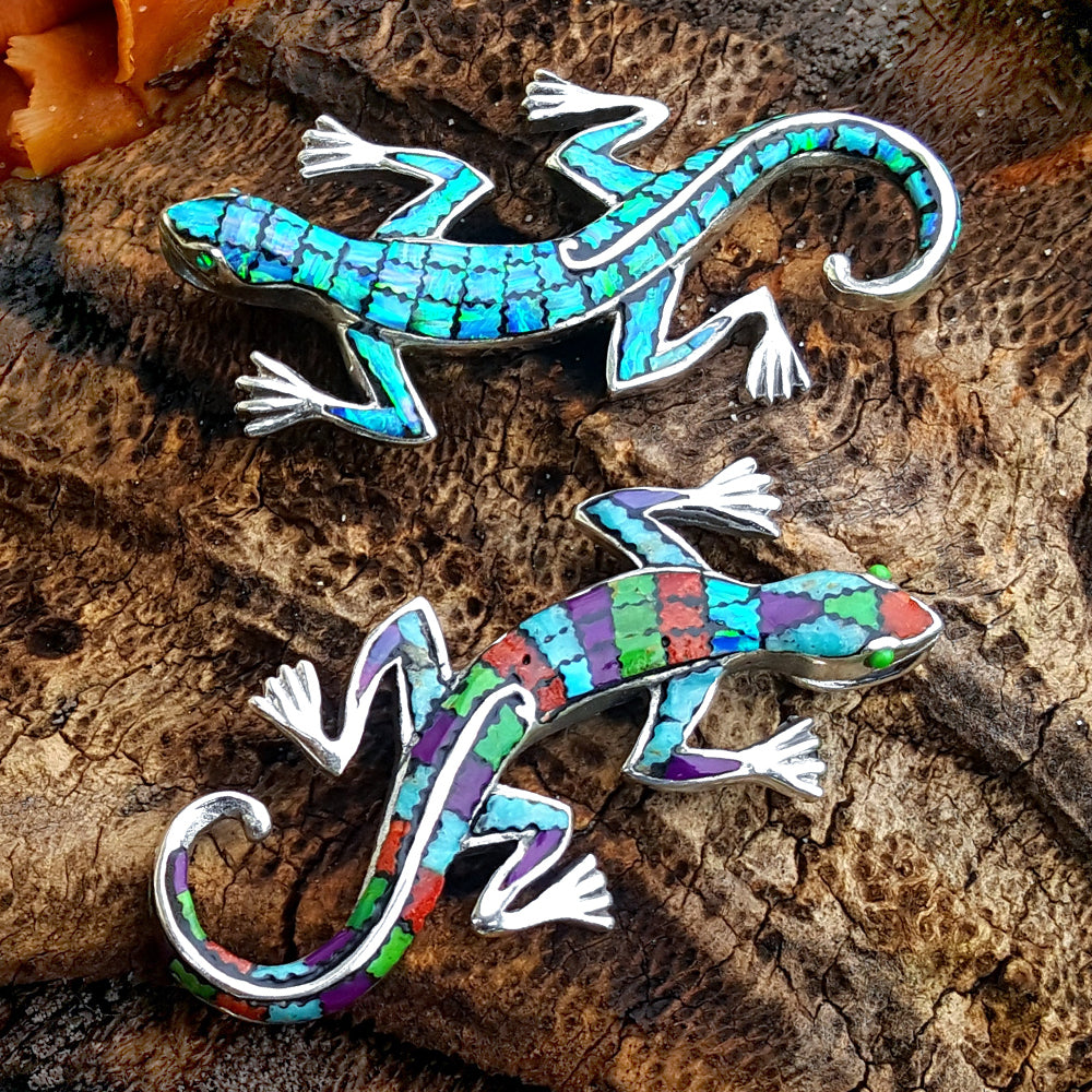 Gecko Handmade 925 Sterling Silver Pendant Vy Jewelry