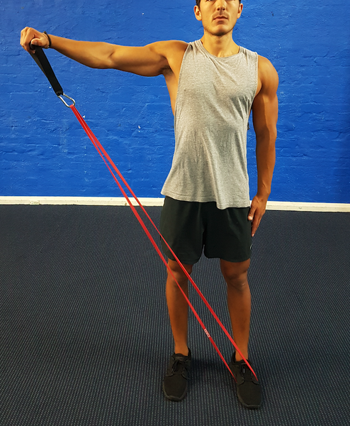 lateral raises with resistance bands