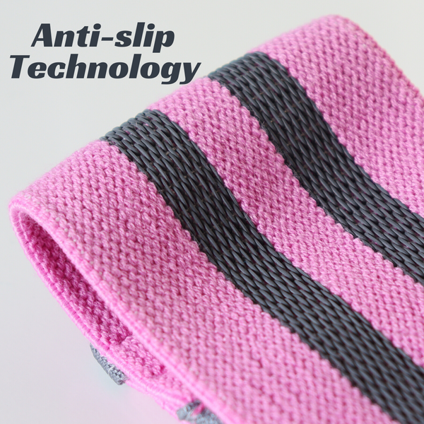 Fabric Resistance Bands - Pink Hip Band - Anti-slip Technology