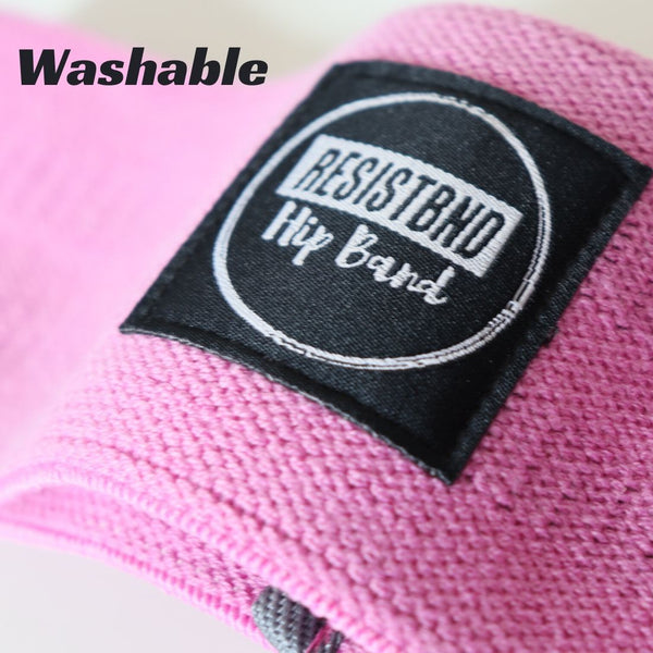 Fabric Resistance Bands - Pink Hip Band - Washable