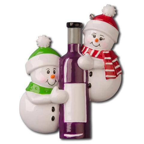 OR1023 - Wine Bottle Couple Personalised Christmas Decoration