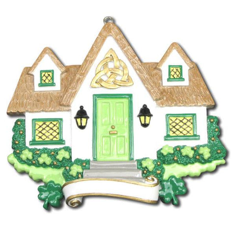 OR1125 - New Irish House Personalised Christmas Decorations