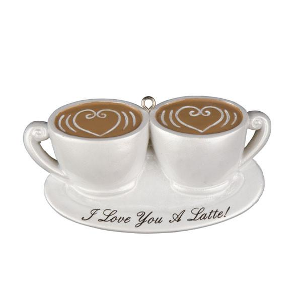 OR1129 - Couple I Love U Latte Personalized Christmas Decorations