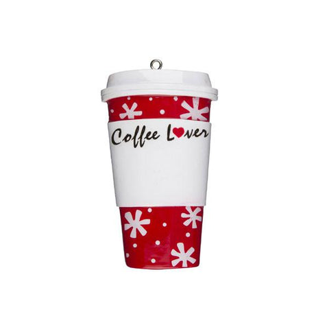 OR1168 - Coffee Lover Cup Personalised Christmas Decorations