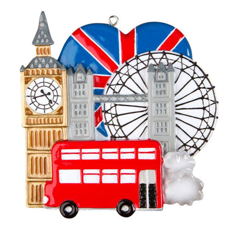 OR1292 - London, England Personalised Christmas Decoration