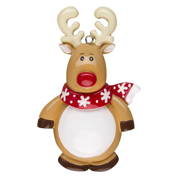 OR1313 - Reindeer Character Personalised Christmas Decoration