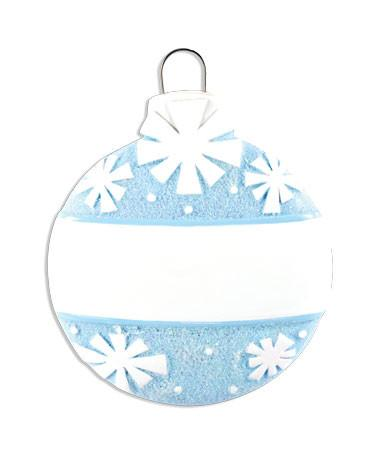 OR1434-B - Christmas Ball (Blue) Personalised Christmas Decoration