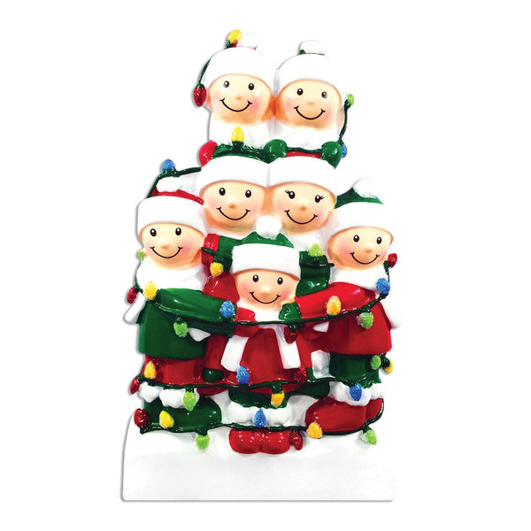 OR1521-7 - Tangled In Lights (family of 7) Christmas Decoration