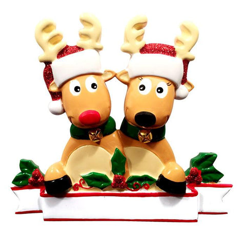 OR1527-2 - New Reindeer Family (couple) Christmas Ornament
