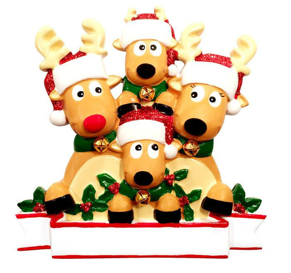 OR1527-4 - New Reindeer (family of 4) Christmas Ornament