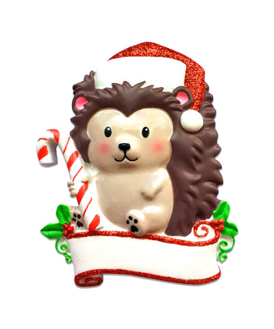 OR1586 - Hedgehog Personalised Christmas Decoration