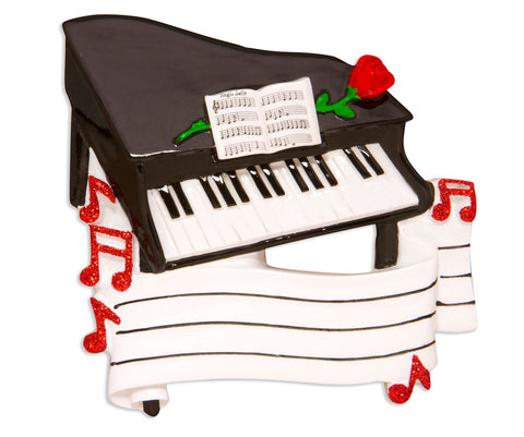 OR1618 - New Piano Personalised Christmas Decoration
