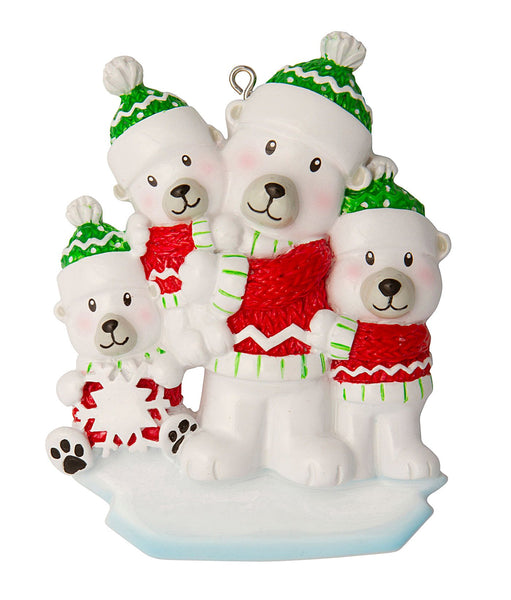 OR1674-3 - Single Dad with 3 Children Personalised Christmas Decoration