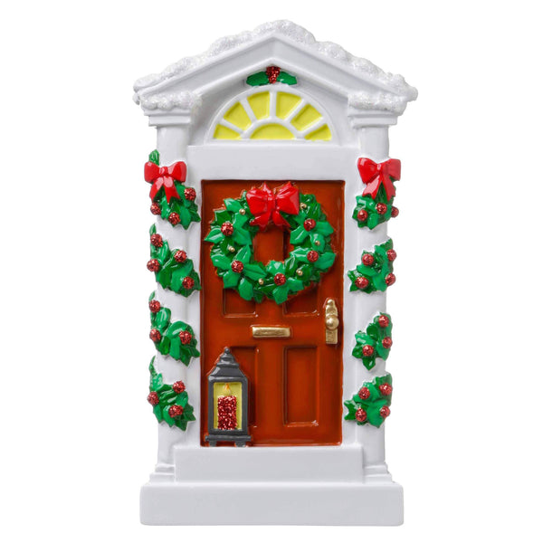 OR1699 - Historic House Door Personalised Christmas Decoration