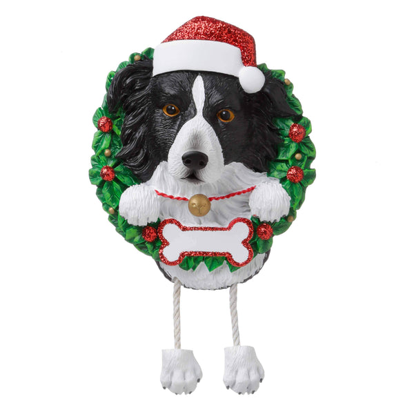 OR1712-BC - Border Collie (Pure Breed) Personalised Christmas Decoration