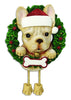 OR1712-FB - French Bulldog (Pure Breed) Personalised Christmas Decoration