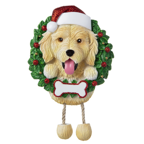 OR1712-GD - Golden Doodle (Pure Breed) Personalised Christmas Decoration