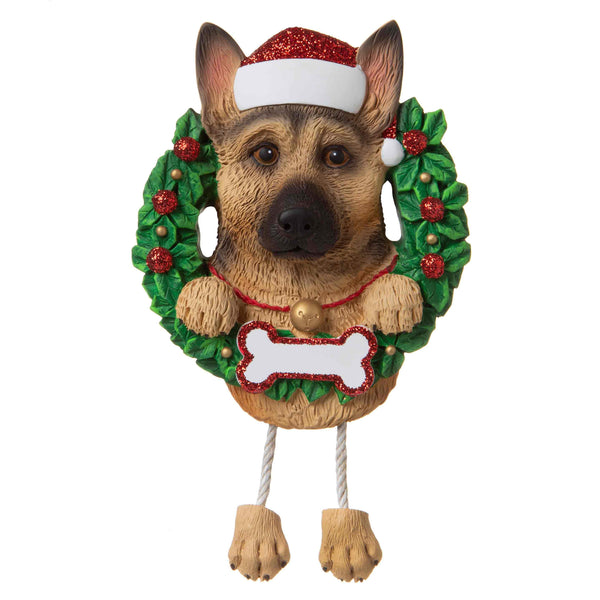 OR1712-GS - German Shepherd (Pure Breed) Personalised Christmas Decoration