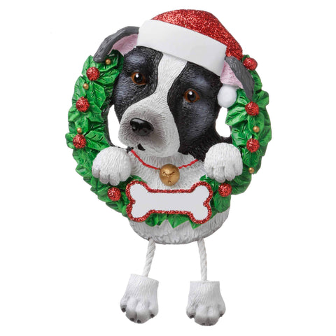 OR1712-PB - Pit Bull (Pure Breed) Personalised Christmas Decoration
