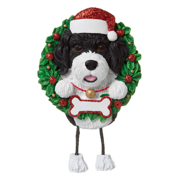 OR1712-PO - Portuguese Water Dog (Pure Breed) Personalised Christmas Decoration