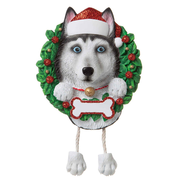 OR1712-SH - Siberian Husky (Pure Breed) Personalised Christmas Decoration