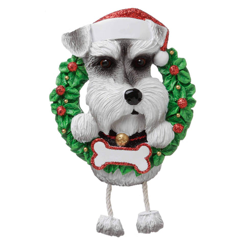 OR1712-SN - Schnauzer (Pure Breed) Personalised Christmas Decoration
