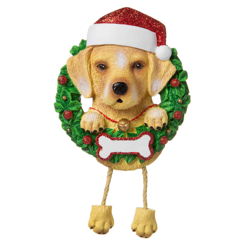 OR1712-YL - Yellow Lab (Pure Breed) Personalised Christmas Decoration