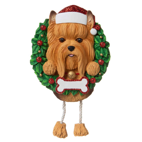 OR1712-YO - Yorkie (Pure Breed) Personalised Christmas Decoration