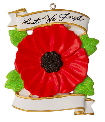 OR1755 - Religious/Memorial - Canadian Poppy - Lest We Forget