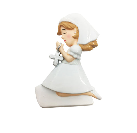 OR1819-G - First Communion / Confirmation (Girl) Personalised Christmas Decoration
