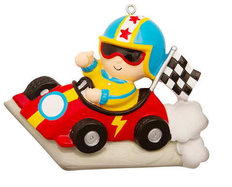 OR1845 - Race Car Driver Personalized Christmas Decoration