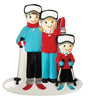 OR1868-3 - Ski Family of 3 Personalised Christmas Decoration