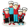 OR1868-5 - Ski Family of 5 Personalised Christmas Decoration