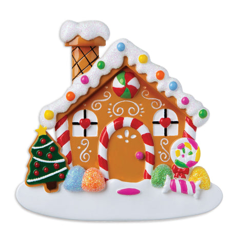 OR1873 - New Gingerbread House  Personalised Christmas Decoration