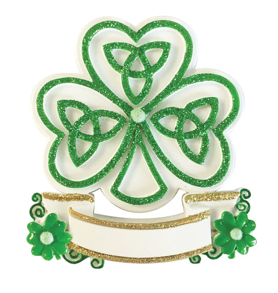 OR1955 - Celtic Shamrock Personalised Christmas Decoration