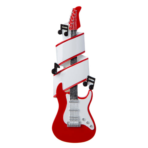 OR1966 - Electric Guitar Personalised Christmas Decoration