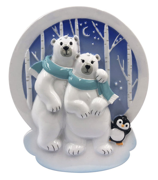 OR2022-2 - Polar Family of 2 Personalized Christmas Decoration