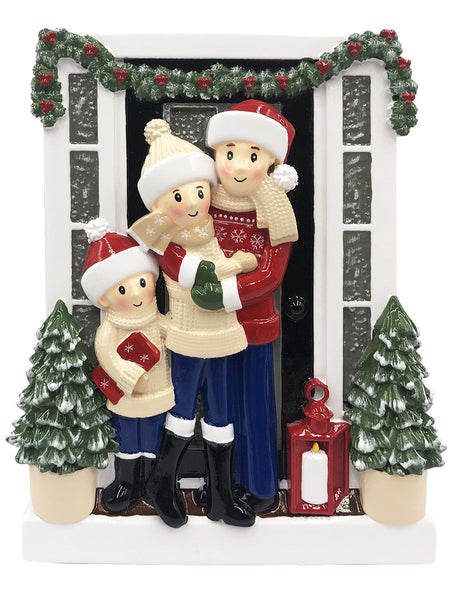 OR2026-3 - Farm House Family of 3 Personalized Christmas Decoration