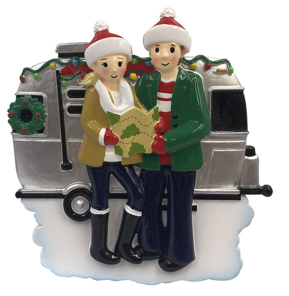 OR2028-2 - RV Family of 2 Personalized Christmas Decoration