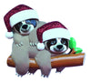 OR2032-2 - Sloth Family of 2 Personalized Christmas Decoration