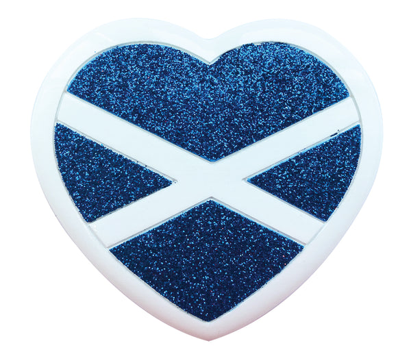 OR2133 - Scottish Flag & Heart Personalized Christmas Decoration