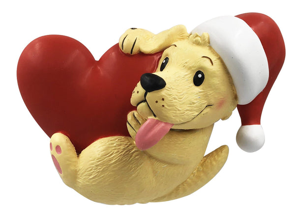 OR2135 - Dog Holding Heart Personalized Christmas Decoration