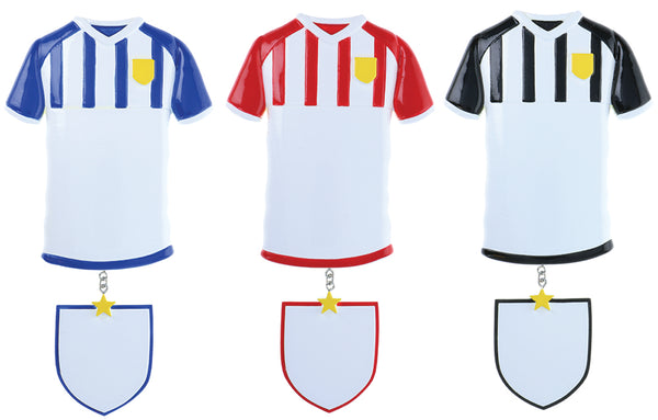 OR2136-A - Football Shirts (4 Black / 4 Red / 4 Blue) Personalized Christmas Decoration