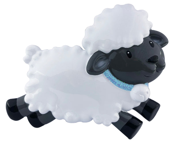 OR2138-B - Baby's First Sheep (Blue) Personalized Christmas Decoration