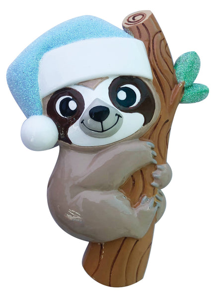 OR2157-B - Baby Sloth (Blue) Personalized Christmas Decoration
