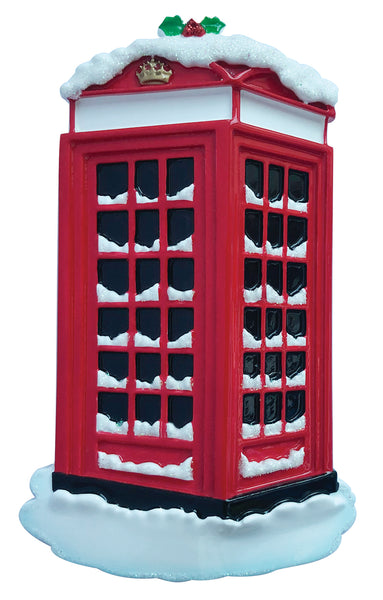 OR2172 - Red Phone Box Personalized Christmas Decoration