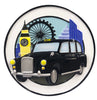 OR2208 - Black London Taxi Personalized Christmas Decoration