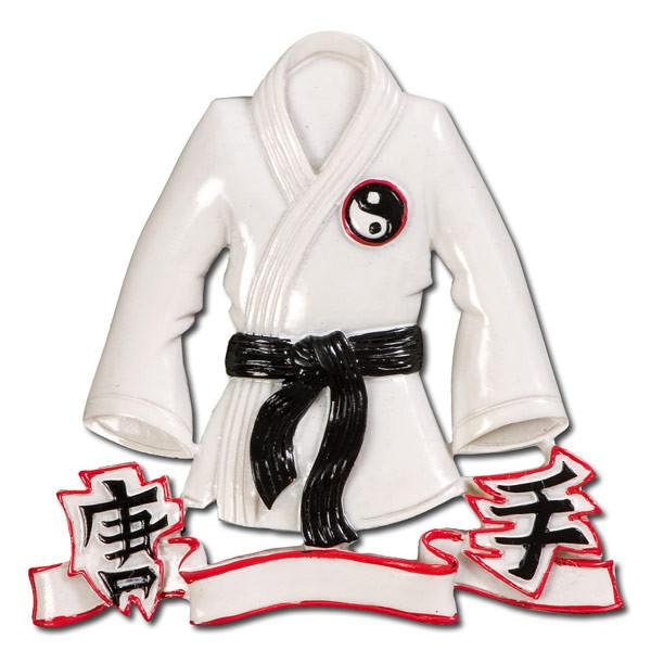 OR484 - Karate Jacket Personalised Christmas Decoration