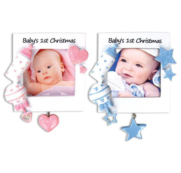 PF600-A - Christmas Baby Frame-Pink and Blue (6 pink/6 blue)